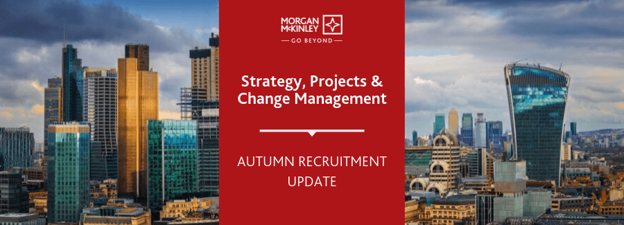 Strategy, Projects & Change Management recruitment update Q3 2019