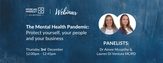 The Mental Health Pandemic: Protect yourself, your people and your business